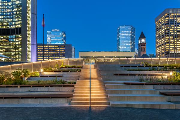 Stair to the raised walkway (photo: Steven Evans Photography)