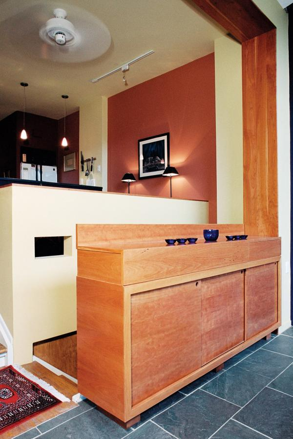 The cherry sideboard/handrail (photo: Peter Legris Photography)