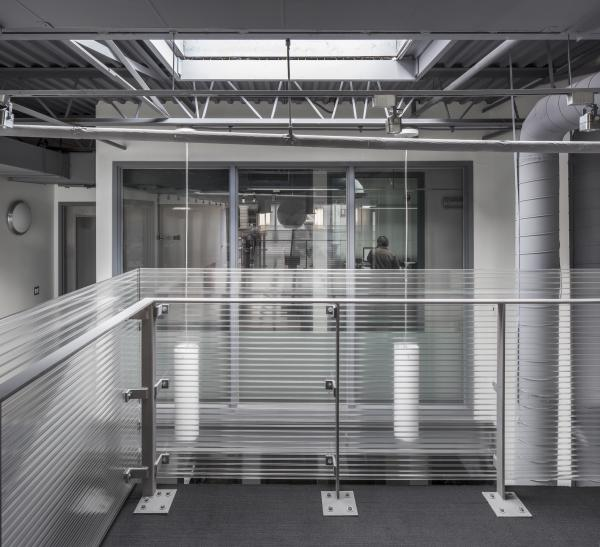 Looking into the atrium from the offices (photo: Steven Evans Photography)