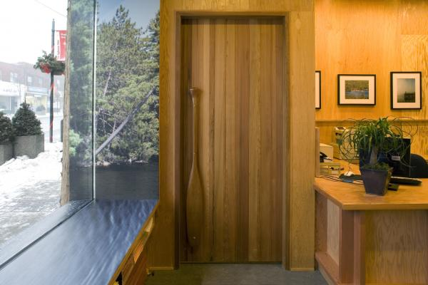 View of the front door (photo: Peter Legris Photography)