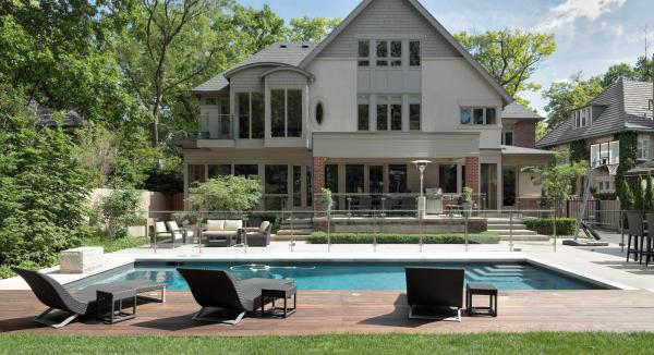 View of the pool and house (photo: Peter Legris Photography)
