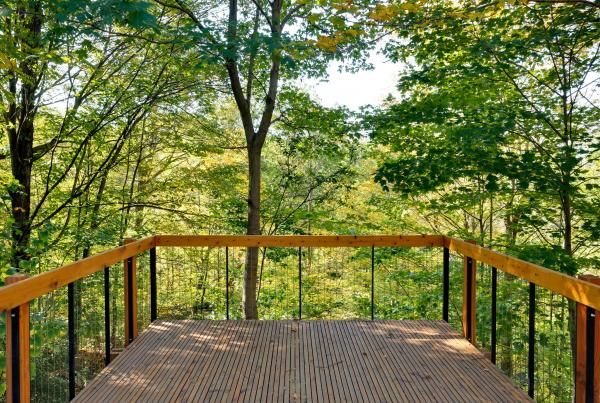 Deck in the ravine (photo: Peter Legris Photography)