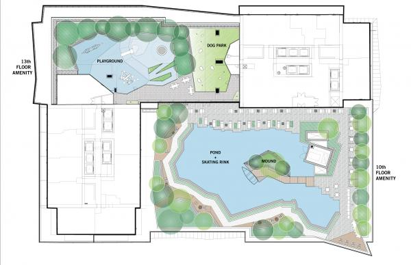 7th and 9th floor outdoor amenity plan