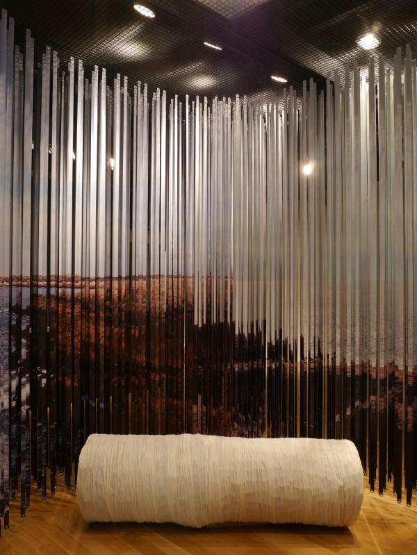 View of the lenticular curtain from inside (photo: Chris Pommer/PLANT, Alison Steele)