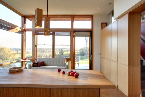 View from the Kitchen to the landscape (photo: Peter Legris Photography)