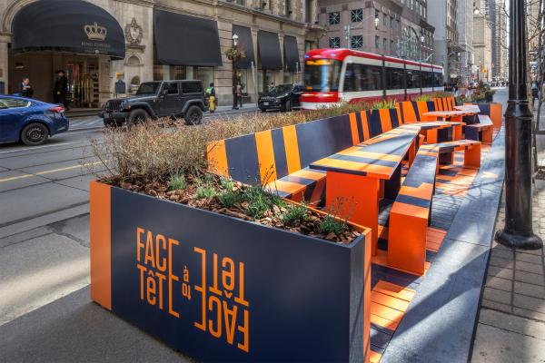 The parklet replaces two parking spots (photo: Steven Evans Photography)