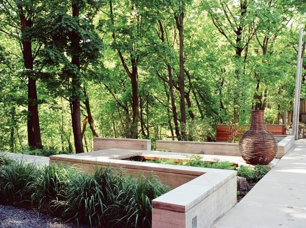 View showing the upper garden (photo: Peter Legris Photography)