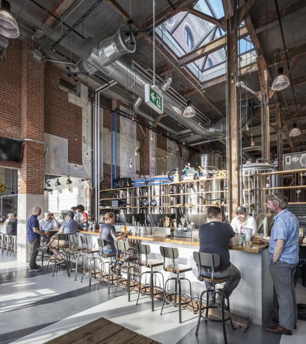 The taproom (photo: Steven Evans Photography)