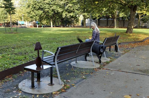 Benches along Rossmore Road (photo: Peter Legris Photography)