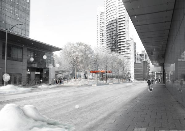 Approach from Harbour St. winter
